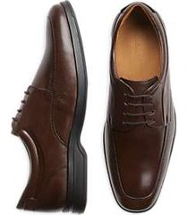 belvedere times brown moc toe dress shoe