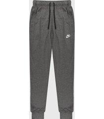 pantalón gris-blanco nike club jogger dry