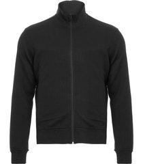 casaco masculino moletom textura - preto