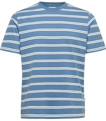 sami stripe t-shirt t-shirts short-sleeved blauw wood wood