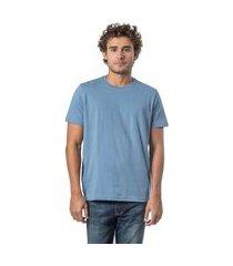 t-shirt básica mescla comfort azul azul/gg