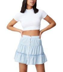 women's woven tawni tiered mini skirt