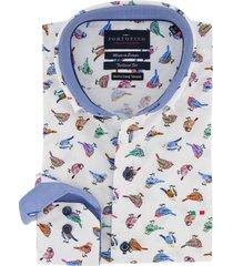 overhemd mouwlengte 7 portofino vogelprint