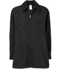 chanel pre-owned cutaway collar jacket - black