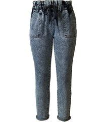 tinseltown juniors' drawstring paperbag-waist jeans