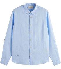 overhemd linnen blauw