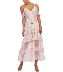 christian siriano new york off the shoulder ruffle dress