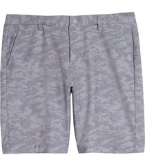 men's big & tall cutter & buck bainbridge camo sport shorts, size 44 - grey