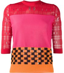 ports 1961 colour block knit top - vermelho