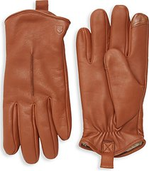 rugged leather tech gloves