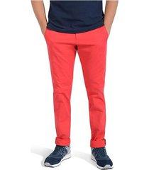 pantalón essex color siete para hombre - rojo