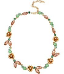 miriam haskell new york flower stone collar necklace