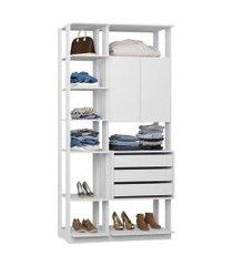 closet guarda roupa armário e 3 gavetas branco lilies móveis