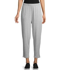 eileen fisher women's heathered ankle pants - grey - size m