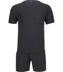 pijama unicolor camiseta y pantalón corto