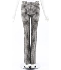 altuzarra plaid wool full length pants sz: 34 black/white sz: xs