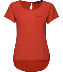 abena light round neck top t-shirts & tops short-sleeved röd french connection