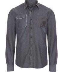 camisa masculina leon - cinza