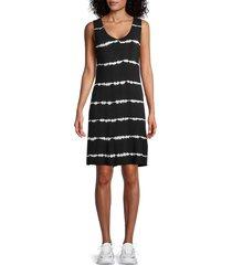 marc new york performance women's tie-dye tank dress - black - size xs