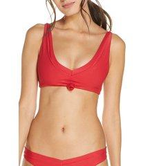 women's frankies bikinis austin knot bikini top