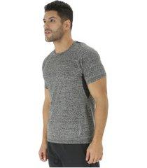 camiseta oxer feixe - masculina - cinza escuro/preto