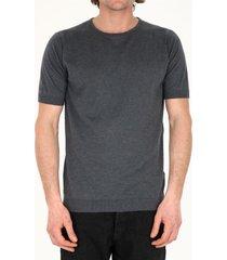 john smedley gray cotton t-shirt