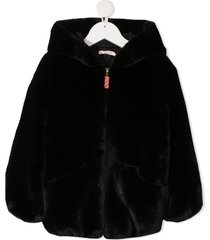 billieblush short faux-fur coat - black