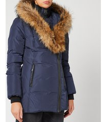 mackage women's adali classic down coat - navy - xl