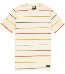 kultivate t-shirt color stripes pearled ivory