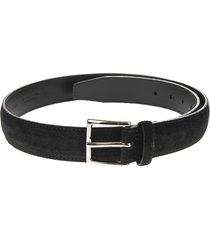 man 3.5cm black cloudy belt in suede