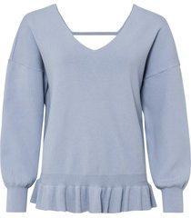 maglione con scollatura sulla schiena (blu) - rainbow