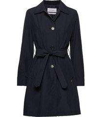 coat not wool trenchcoat lange jas blauw gerry weber edition