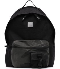 aape by *a bathing ape® camouflage-print pocket backpack - black