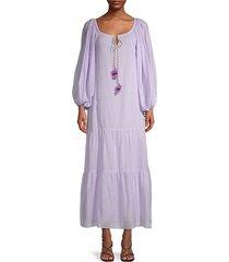 tassel cotton pea dress