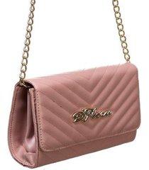 bolsa carteira d'flora alça fixa corrente feminina mão ombro - feminino