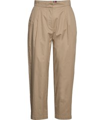 cotton poplin tapered pant chinos byxor beige tommy hilfiger
