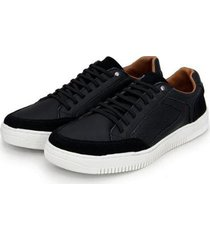 sapatênis casual br2 footwear couro elástico macio masculino - masculino