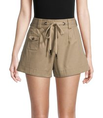 dolce & gabbana women's casual high-waist shorts - tobacco - size 42 (8)