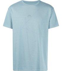a-cold-wall* flatlock cotton t-shirt - blue