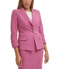 dkny bar-closure blazer