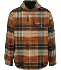 wolverine men's bucksaw bonded shirt jac espresso plaid, size l