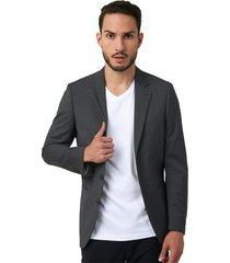 blazer clásico unicolor slim fit 94444