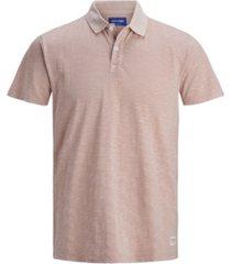 jack & jones men's washed single jersey organic short sleeve polo shirt