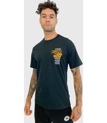 polera converse  youth now cotton jersey graphic t-shirt negro - calce regular