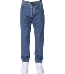 msgm jeans with printed logo