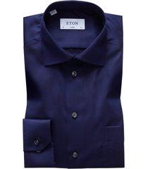 eton shirt classic fit donkerblauw