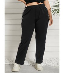 plus talla correa elástica leopardo pantalones