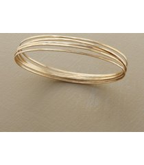 golden orbit bangle bracelets, set of 5
