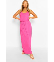 maxi-jurk met racerback, warm roze