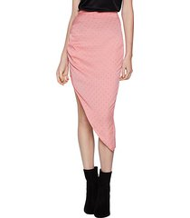 dot-print asymmetrical skirt